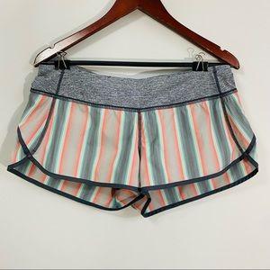 Lululemon Ombré stripes prints Speed shorts